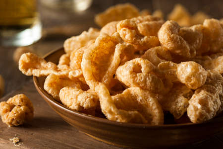 rinds: Homemade Fatty Pork Rinds to Snack on