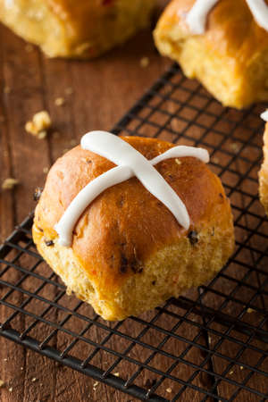 Homemade Hot Cross Buns Ready for Easter