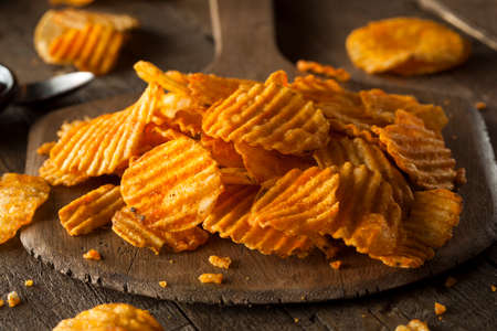Hot Barbeque Potato Chips Ready to Eat Stok Fotoğraf