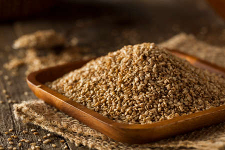 Raw Organic Sesame Seeds in a Bowl