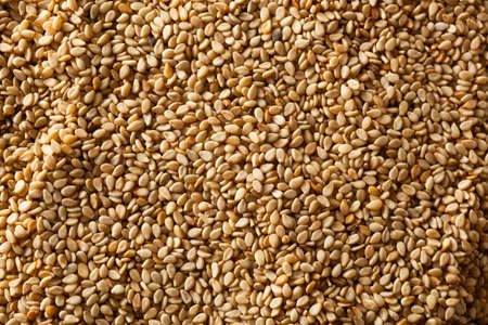 white sesame seeds: Raw Organic Sesame Seeds in a Bowl