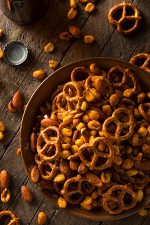 mix fruit: Seasoned Pub Snack Mix with Nuts and Pretzels