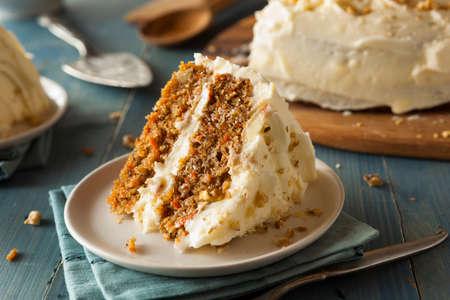 marchewka: Zdrowa Homemade Carrot Cake Gotowy na Wielkanoc