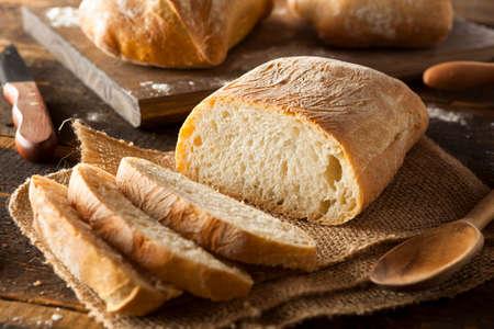 bread loaf: Crusty Homemade Ciabatta Bread