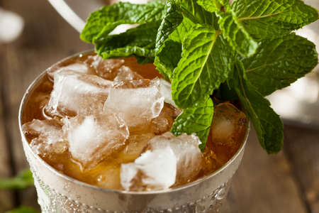 alcohol drinks: Refreshing Cold Mint Julep Stock Photo