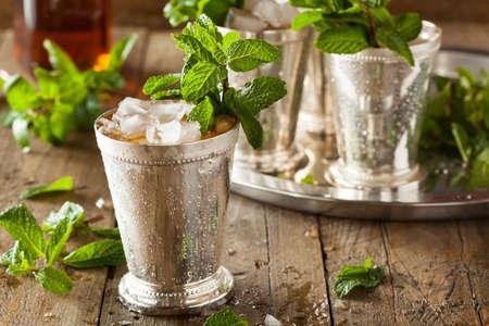Refreshing Cold Mint Julep 스톡 콘텐츠