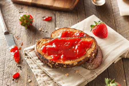 Homemade Strawberry Jelly on Whole Wheat Toast photo