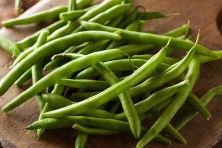 ejotes: Frijoles Crudo Org�nico verde Listo para comer