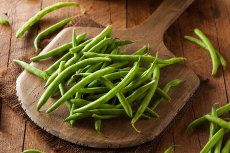 Raw Organic Green Beans Ready to Eat