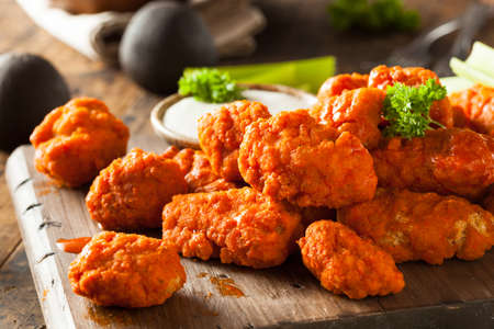 buffalo: Hot and Spicy Boneless Buffalo Chicken Wings with Ranch