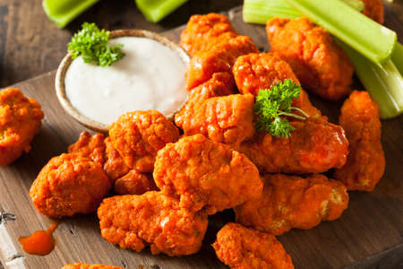 Hot and Spicy Boneless Buffalo Chicken Wings with Ranch