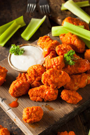 hot sauce: Hot and Spicy Boneless Buffalo Chicken Wings with Ranch