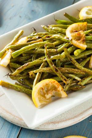 ejotes: Hecho en casa salsa de frijoles verdes con lim�n y ajo