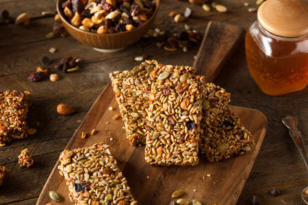 fruit bars: Raw Organic Granola Bars with Seeds and Nuts