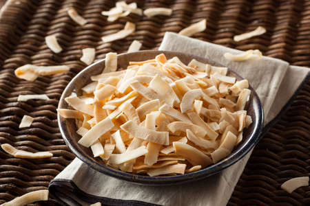 shredded coconut: Organic Roasted Coconut Chips with Sugar and Salt