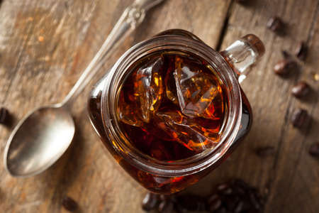 Homemade Cold Brew Coffee to Drink for Breakfast Archivio Fotografico