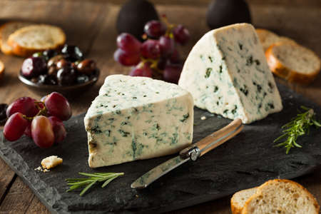 wedges: Organic Blue Cheese Wedge with Olives and Grapes