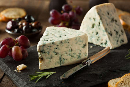 wedge: Organic Blue Cheese Wedge with Olives and Grapes