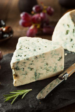 moldy: Organic Blue Cheese Wedge with Olives and Grapes