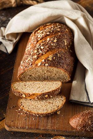 whole wheat bread: Organic Homemade Whole Wheat Bread Ready to Eat Stock Photo