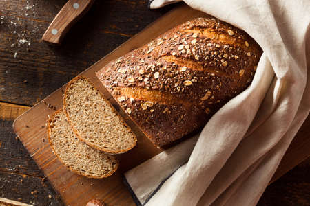 Organic Homemade Whole Wheat Bread Ready to Eat Stok Fotoğraf
