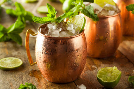 copper: Icy Cold Moscow Mules with Ginger Beer and Vodka