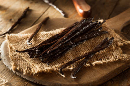 Raw Organic Vanilla Beans Ready to Cut 免版税图像 - 40124649