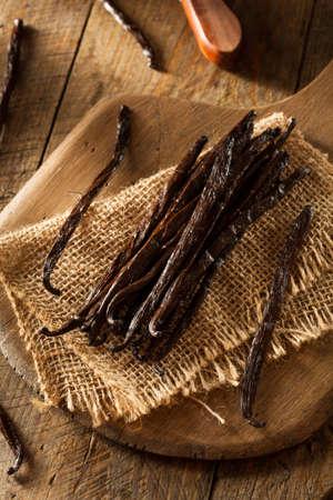 pod: Raw Organic Vanilla Beans Ready to Cut