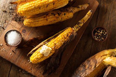 grill: Grilled Corns on the Cob with Salt and Butter