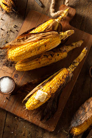 Grilled Corns on the Cob with Salt and Butter