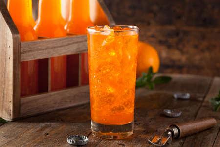 Refreshing Orange Cream Soda Ready to Drink Stock Photo