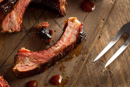 zesty: Homemade Smoked Barbecue Pork Ribs Ready to Eat