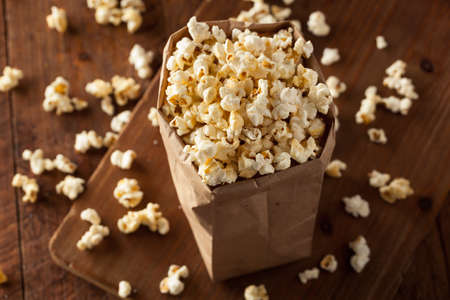 bowls of popcorn: Homemade Kettle Corn Popcorn in a Bag