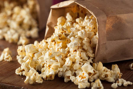 popcorn kernel: Homemade Kettle Corn Popcorn in a Bag