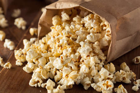 bowl of popcorn: Homemade Kettle Corn Popcorn in a Bag