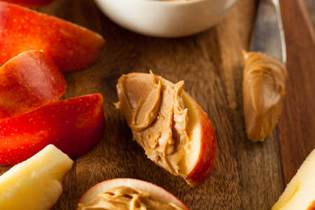 peanut butter: Organic Apples and Peanut Butter to Snack on