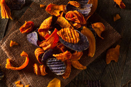 Healthy Organic Vegetable Chips Ready to Eat