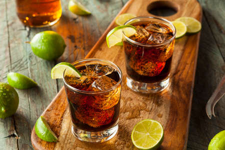 libre: Rum and Cola Cuba Libre with Lime and Ice
