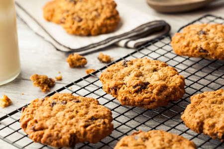 oatmeal: Homemade Oatmeal Raisin Cookies Ready to Eat