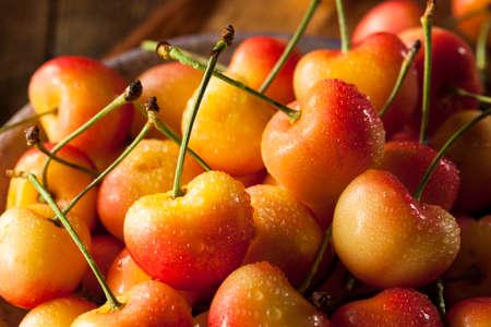 rainier: Healthy Organic Rainier Cherries in a Bowl