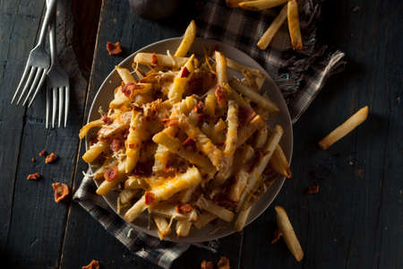 catsup: Homemade Salty Cheese French Fries with Bacon