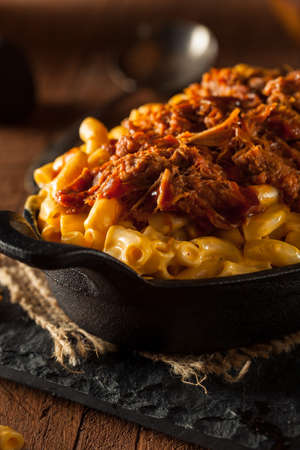 meat sauce: Homemade BBQ Pulled Pork Mac and Cheese, Ready to Eat