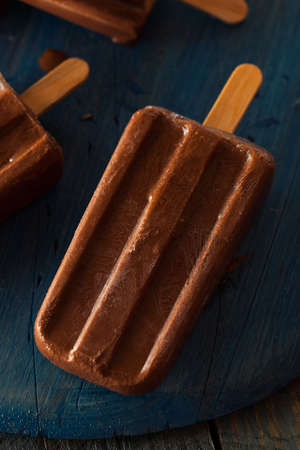 fudge: Homemade Cold Chocolate Fudge ice pop on a Stick