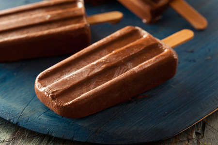flavoured: Homemade Cold Chocolate Fudge ice pop on a Stick