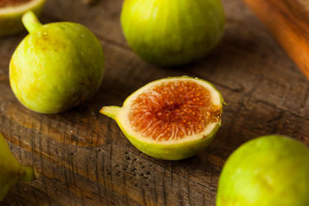 Healthy Organic Green Figs in a Bowl