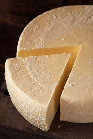 queso blanco: Gran Rueda de queso blanco org�nico Leer para Cortar