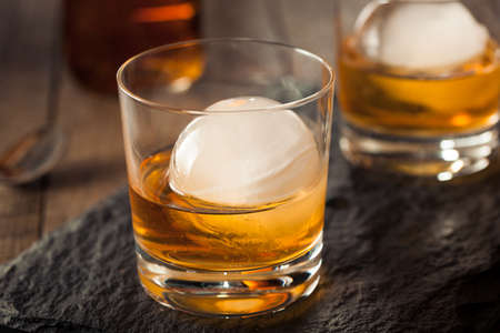 sphere: Bourbon Whiskey with a Sphere Ice Cube Ready to Drink