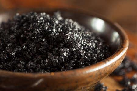 Black Hawaiin Lava Sea Salt in a Bowl