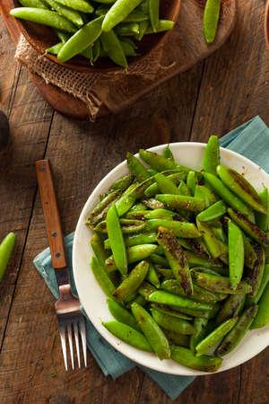 sweet sugar snap: Homemade Sauteed Sugar Snap Peas Ready to Eat
