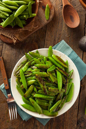 snap: Homemade Sauteed Sugar Snap Peas Ready to Eat